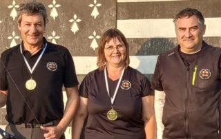 Sandrine Girard et Patrick Jumpertz, champions de Bretagne de tir 3D